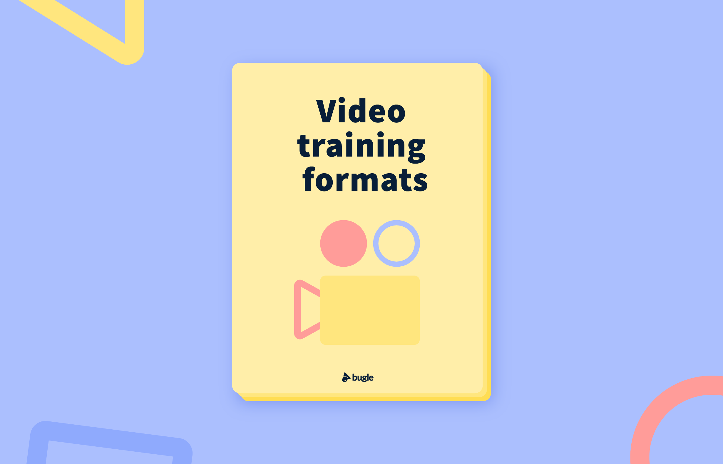 Video training formats poster and video