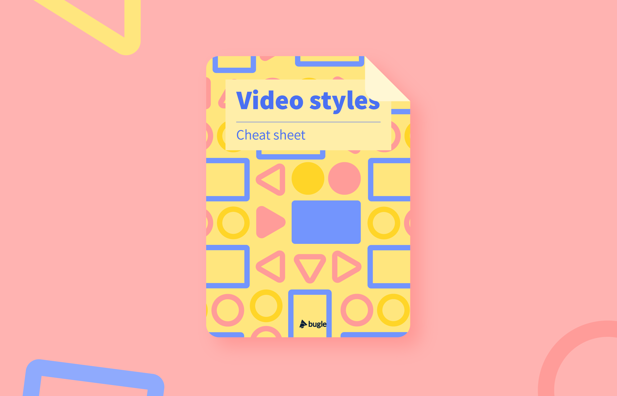 Video Styles for Training Cheat Sheet