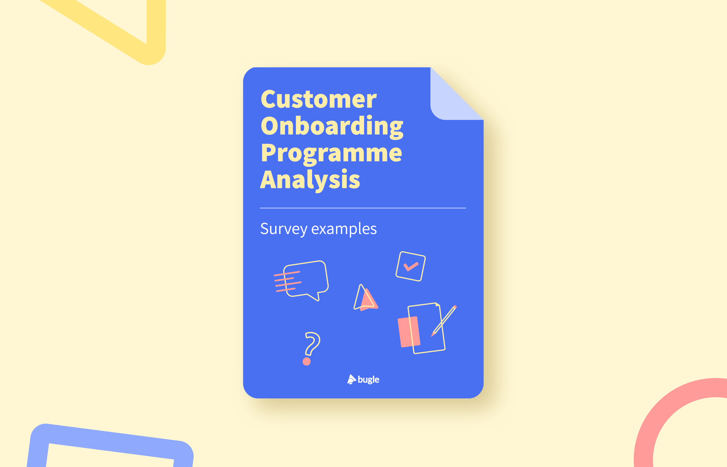 Customer Onboarding Programme Analysis Survey examples